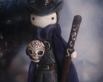 RESERVED for Ninjapirate Harry Dresden Poppet - Harry and Bob -Limited Edition #10/50 -  Lisa Snellings