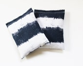 Indigo Striped Scent Bags Lavender Cedar Drawer Sachets Nautical Beach Cottage Decor