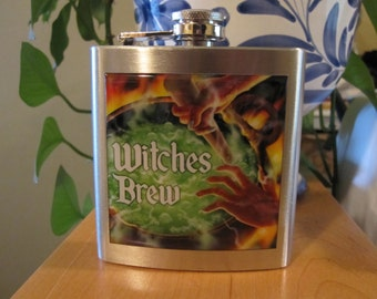 Witches Brew Liquor Hip Flask 6 ounce