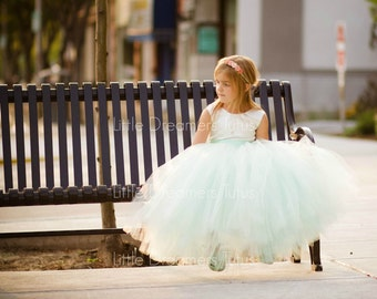 NEW! The Juliet Dress in Ivory Mint - Flower Girl Tutu Dress