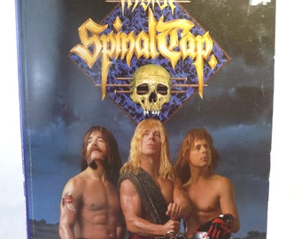 Inside Spinal Tap, Rock Band, vintage book, movie book, England rock band, Derek Smalls, David St Hubbins, Nigel Tufnel,pictures,movie facts