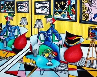 Roy Lichtenstein, Pop art print, Pop art, Pop art poster, Wall art print, Lichtenstein art, Modern art print, Gift for her,