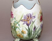 Vase with Hand Painted Spring Flowers