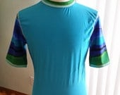 "Men's BLUE GRIFFIN Rash guard size Medium (chest 38-40"")"