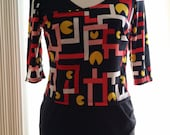 Pac Man Crossover top size Large (10-12)