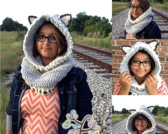 Wolf Hooded Cowl