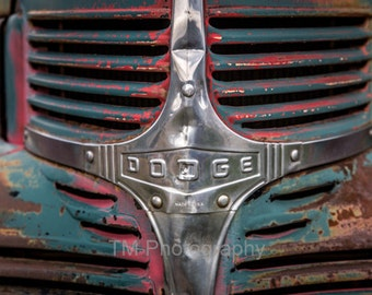 Dodge - Old Dodge - Old Dodge Grill - Rusty Car - Rusty Dodge - Rusty Old Dodge Grill - Dodge Lover - Old Automotive Photo