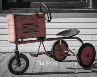 Antique Toy - Toy Tractor - Antique Toy Tractor - Porch Scene - Old Porch - Hot Day on Grandma's Porch