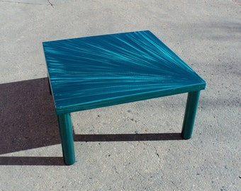 Teal Steel Coffee Table