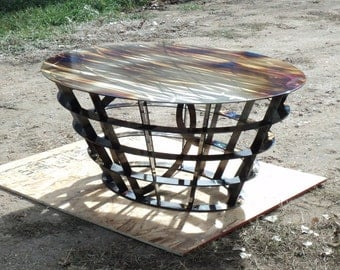 Metal Elliptical Coffee Table