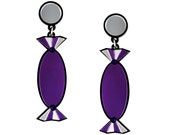 Purple Quality Treat Sweet Earrings - Laser cut acrylic