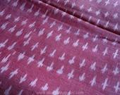 Pink Ikat Fabric, Indian Handloom Cotton Fabric, Indian Ikat Fabric, Indian Fabrics, Ikat, Unique Fabric, Pink Fabric, Indian Cotton Fabric