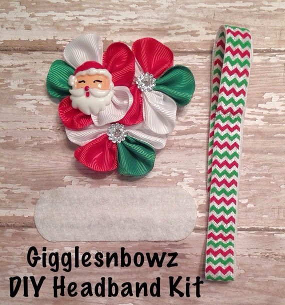 Diy headband kit christmas headband kit makes 1 headband do it diy headband kit christmas headband kit makes 1 headband do it yourself santa headband baby headband kit diy supplies de gigglesnbowzsupplies en etsy solutioingenieria Choice Image