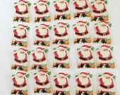 Vintage Santa Christmas Seals Stickers Free Shipping