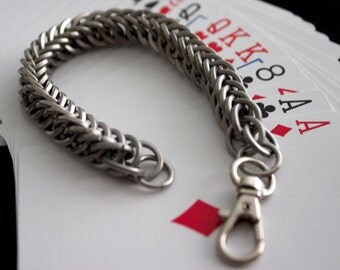 Stout Steel Chainmaille Bracelet