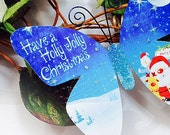 Butterfly Embellishments Holly Jolly Christmas