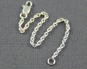 "Necklace extender - 1"" , 2"", 3"", 4"" or 5"", silver plate extender chain"