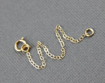 "Necklace extender - 1"" , 2"", 3"", 4"" or 5"", gold filled extender chain"