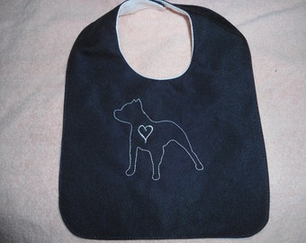 Pitbull Love baby bib