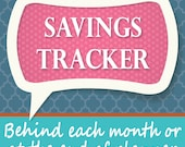 Savings Tracker for Planner and Notebooks