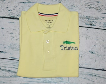 Personalized Kids Polo Shirt Monogrammed Embroidered Design SHORT SLEEVE
