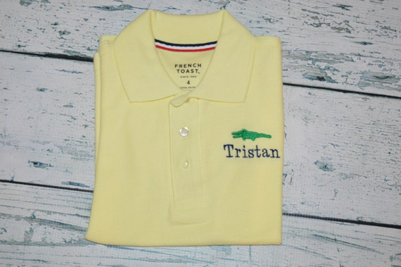 Personalized kids polo shirt monogrammed embroidered design for Personalized polo shirts for toddlers