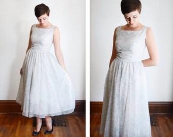 1980s Lanz Paisley Print Chiffon Dress - S/M