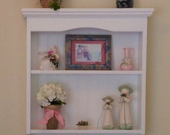 Display Rack Wood Knick Knack Wall Shelf Display Pine Shaker Style  Wall Hanging