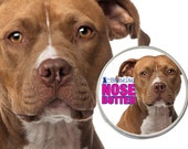 American Staffordshire Terrier NOSE BUTTER® Organic Handcrafted Balm for Dry Dog Noses 2 oz Tin Choice Red or Blue AmStaff in Gift Bag