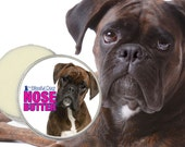 BOXER NOSE BUTTER® Handcrafted All Natural Balm for Dry Dog Noses 1 oz Tin 5 Boxer Labels: Fawn, Brindle, White, Show & Duo in Gift Bag