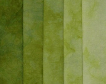 Hand Dyed Fabric Shades - Algae
