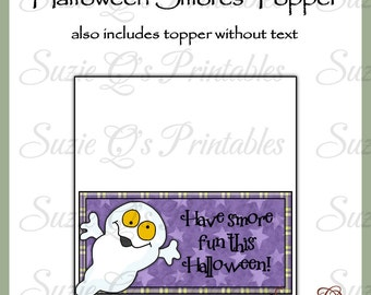 Halloween Smores Topper - US and International Sizes - Digital Printable - Immediate Download