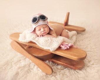 Pink Aviator Hat, Aviator Hat Baby Girl, Baby Girl Hats, Crochet Baby Hats, Hats for Girls, Baby Aviator Hat