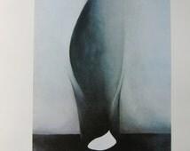1926 Georgia O'Keefe Oil on Canvas Print, Shell and Old Shingle VI, 1976 Book Page, Unframed Print
