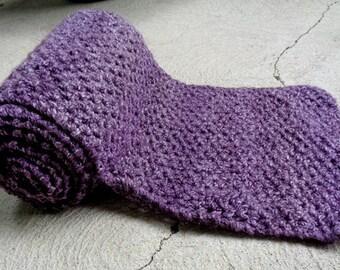 Hand Knit Plum Scarf