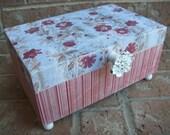 Flower Wood Jewelry Keepsake Box