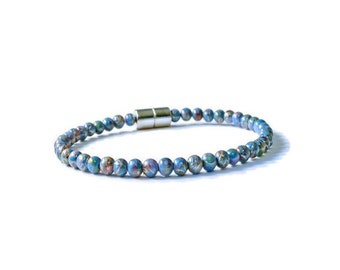 Blue Picasso Magnetic Hematite Bracelet for Pain Relief