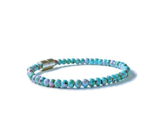 Turquoise Picasso Magnetic Hematite Therapy Bracelet