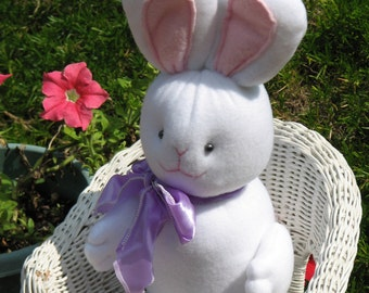 Soft fleece cats, bunny, and duck will steal your heart as they decorate your home for Easter