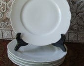 """CFH / GDM Antique 1882 Haviland Limoge France 8 1/2"""" Scalloped Luncheon /Salad Plate White Blank, 1 of 5 Available Charles Field Haviland"""