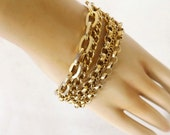 Vintage Bracelet, Chain Bracelet, Link Bracelet, Retro Jewelry, Vintage Jewelry, Costume Jewelry Accessories, Ladies Accessories