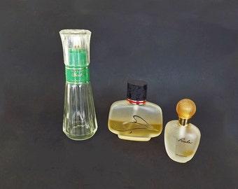4 Vintage Perfume Bottle Set, Rumba Balenciaga, With Love, Windsong, Jacqueline Cochran Maxims De Paris Perfume Fragrance, Vanity Decor