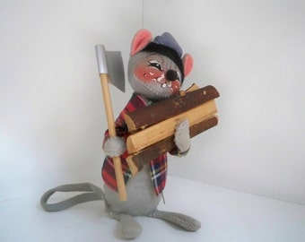 Vintage Collectible Annalee Dolls 1965 Mouse Woodsman Made in USA