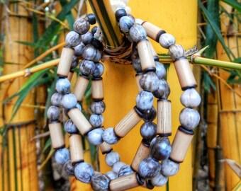 Kauai Bamboo and Job's Tears Seeds Bracelet