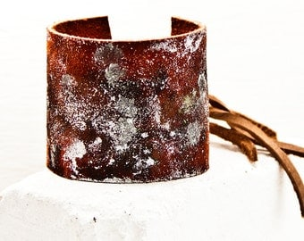 Ideas For Gifts, Leather Cuff, Stylish Leather Bracelet, Women's Bracelet Cuff, Leather Jewelry