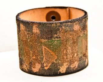 Edgy Bracelets Wrist Cuff Gypsy Chic Handmade From Leather