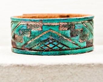 Leather Cuff Jewelry For Women, Winter Fashion, Perfect Gifts, Unique Shops, Best Trends, Lovely Finds, Accessories, Hand Painted Leather