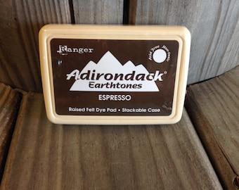 30% OFF!!!!! Tim Holtz Ranger Adirondack Earthtones Felt Dye Pad - Espresso