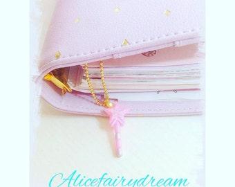 pink charm planner magic wand fairy key  agenda kikki k