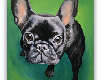 custom pet painting size 6x6 canvas sample